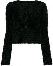 - Twin - Set - Cardigan crop 'Teddy' - women - fibra sintetica - L - di colore nero