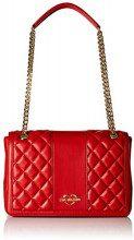 Love Moschino Borsa Quilted Nappa Pu - Borse a secchiello Donna, Rosso, 8x20x29 cm (B x H T)