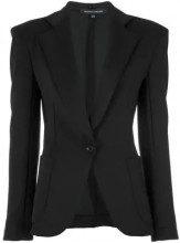 - Gloria Coelho - panelled blazer - women - fibra sintetica - 40 - di colore nero