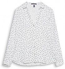 ESPRIT Collection 107eo1f012, Camicia Donna, Bianco (off White 110), 36