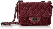 Joe Browns Cute Mini Velvet Bag - Pochette da giorno Donna, Rosso (Ruby), 7x17x12.5 cm (W x H L)