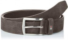 Tommy Hilfiger Denton Nubuck Belt 3.5, Cintura Uomo, Grigio (Charcoal 051), 9 (Taglia Produttore: 105)