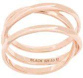 - Maria Black - Anello 'Emilie' - women - argento sterling placcato in oro rosa - 58, 52, 48, 54, 50, 56 - effetto metallizzato