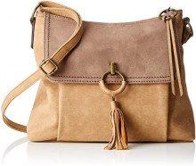 s.Oliver (Bags) Shoulder Bag - Borse a spalla Donna, Marrone (Cashew Brown), 8x24x31 cm (B x H T)