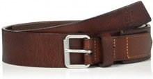 Marc O'Polo Belt, Cintura Donna, Marrone (Cognac/Silver 724), 90 cm