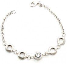 Orphelia–Bracciale da donna in argento 925rodiato con zirconi bianchi taglio brillante 18,5cm–ZA 1008