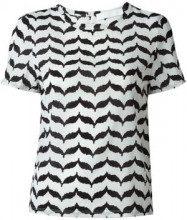 - Neil Barrett - printed T - shirt - women - seta/fibra sintetica - XS - di colore nero