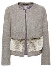 ESPRIT Collection 108eo1g016, Giacca Donna, Grigio (Grey 030), Medium