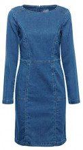 edc by Esprit 108cc1e027, Vestito Donna, Blu (Blue Medium Wash 902), Small