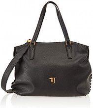 Trussardi Jeans 75B00447-9Y099999, Borsa Tote Donna, Nero, 37x29x15 cm (W x H x L)