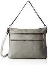 s.Oliver (Bags) Hobo Bag - Borse a mano Donna, Grau (Middle Grey), 4.5x27.5x34.5 cm (B x H T)