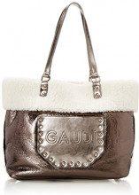 Gaudì Shopping-Linea Belle-Cm.33x31x14, Borsa a Mano Donna, Grigio (Gun), 33x31x14 cm (W x H x L)