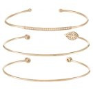 THYDDA 3 PACK - Bracciale - gold-coloured