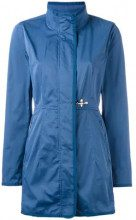 - Fay - single breasted coat - women - fibra sintetica/cotone - XS, S - di colore blu