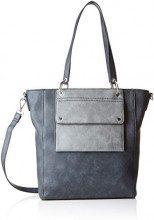 s.Oliver (Bags) Shopper - Borse a secchiello Donna, Grigio (Slate Grey), 8x30x25 cm (B x H T)