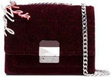- Karl Lagerfeld - square shaped crossbody bag - women - fibra sintetica/cotone/pelle - Taglia Unica - di colore rosso