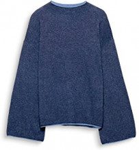 edc by Esprit 097cc1i012, Felpa Donna, Blu (Grey Blue 420), X-Large