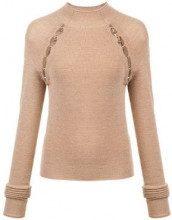 - Alice+Olivia - slit detail sweater - women - lana - XS , S, L, M - color marrone