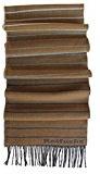 Sciarpa, strisce, doubleface, beige - multicolore, 100% lana (Merino)