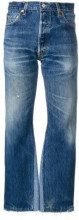 - Re/Done - Jeans a vita alta - women - cotone - 24 - di colore blu