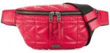 - Karl Lagerfeld - Marsupio trapuntato con borchie - women - pelle - Taglia Unica - di colore rosso