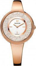 Orologio Crystalline Pure, Bracciale di metallo, bianco, tono oro rosa