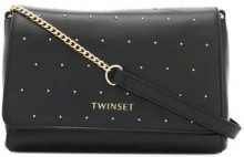 - Twin - Set - Borsa a spalla con borchie - women - pelle di vitello/fibra sintetica - Taglia Unica - di colore nero