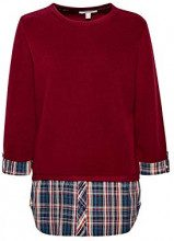 ESPRIT 108ee1j004, Felpa Donna, Rosso (Bordeaux Red 600), Small