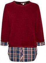 ESPRIT 108ee1j004, Felpa Donna, Rosso (Bordeaux Red 600), X-Small
