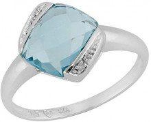 Ivy Gems Donna 925 argento cuscino blu Topazio