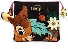 Irregular Choice A Woodland Tale Bag - Pochette da giorno Donna, Multicolore (Black Multi), 2x21x24.5 cm (W x H L)