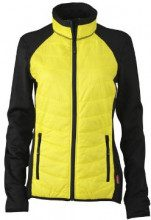 James & Nicholson - Jacke Ladies Hybrid Jacket, Giacca Donna, Giallo (Black/Yellow/Black), Large (Taglia Produttore: Large)