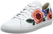 Skechers Vaso-Flor, Sneaker Donna, Bianco (White), 37 EU