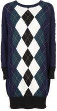 Maxi maglia con losanghe e pizzo 03243MULBLUN