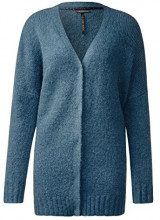 Street One Cosy with Covered Button Panel, Cardigan Donna, Türkis (Pacific Blue 10991), 46 (Taglia produttore: 40)