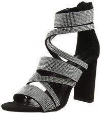 New Look Slosh, Scarpe col Tacco Punta Aperta Donna, Nero (Black 1), 38 EU