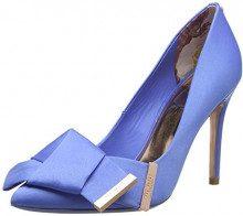 Ted Baker Ines, Scarpe col Tacco Punta Chiusa Donna, Blu (Blue Ble), 36 EU