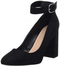 New Look Wide Foot Scuff, Scarpe col Tacco Punta Chiusa Donna, Nero (Black 1), 37 EU