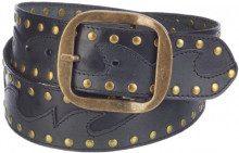 MGM - Cintura, unisex Nero (Schwarz (Schwarz-Grau)) 85 cm