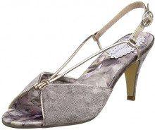 Joe Browns Harlow Vintage Shoes, Sandali con Chiusura sul Retro Donna, Beige (Mink A), 36 EU