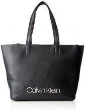 Calvin Klein Jeans Collegic Shopper - Borse a spalla Donna, Nero (Black), 15x31x49 cm (B x H T)