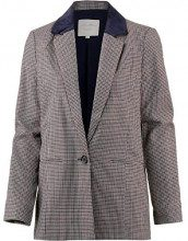 Tom Tailor Denim Karrierter Boyfriend Blazer, Donna, Beige (Sartorial Check 13894), 42 (Taglia Produttore: Small)