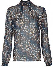 Daniel Hechter Blouse, Blusa Donna, Blu (Midnight Blue 690), 52