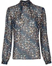 Daniel Hechter Blouse, Blusa Donna, Blu (Midnight Blue 690), 44