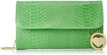 Chicca Borse Cbc7717tar, Borsa a Spalla Donna, Verde, 5x15x25 cm (W x H x L)