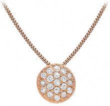 Carissima Gold Collana con Pendente da Donna in Oro Rosa 9K (375) con Diamante 0.05ct