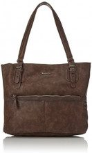 Tamaris Hayden - cartella Donna, Braun (Dark Brown), 12x32x36 cm (B x H T)