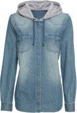 Camicia di jeans con cappuccio