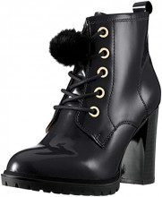 CAPRICE 25202, Stivali Combat Donna, Nero (Black Patent 18), 40.5 EU