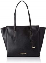 Calvin Klein Jeans Frame Large Shopper - Borse a spalla Donna, Nero (Black), 14x30x40 cm (B x H T)